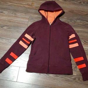 Lululemon Athletica Scuba Sweater Burgundy Sz 10